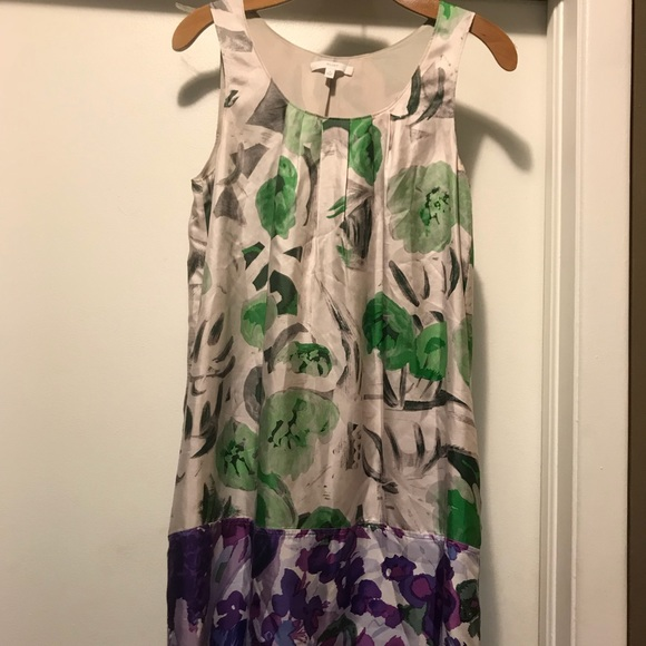 Madewell Dresses & Skirts - Eliot Madewell Silk Purple Floral Shift Dress 4 S
